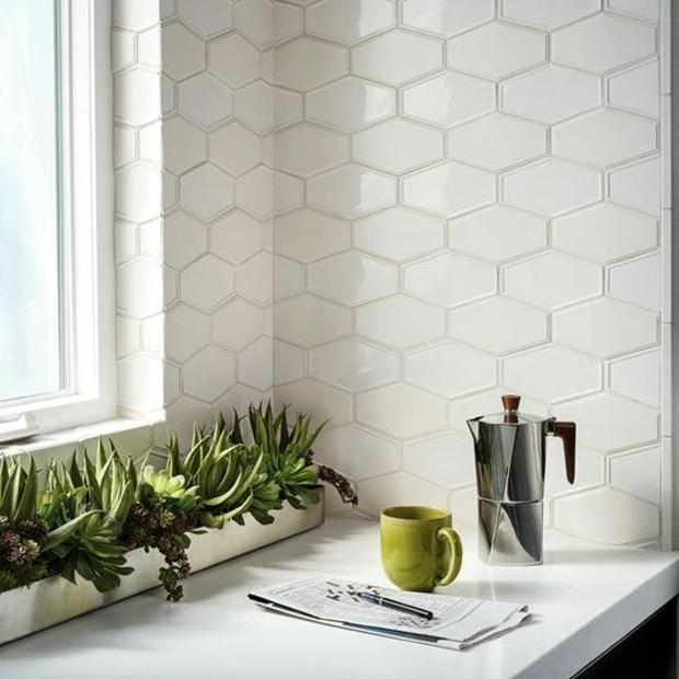 cocinas azulejos alargados plantas cristales
