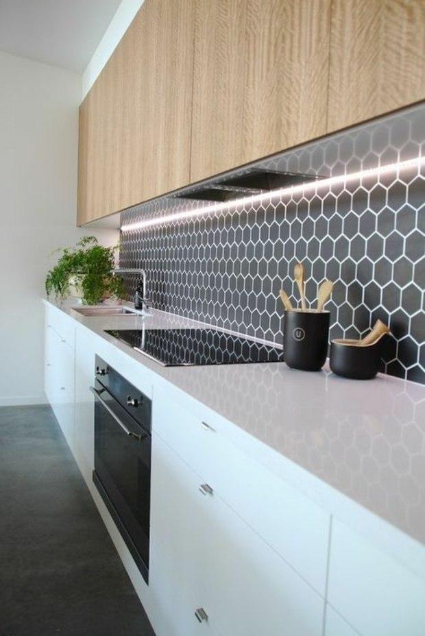 Cocinas azulejos hexagonales en 34 dise os impresionantes for Azulejos cocina