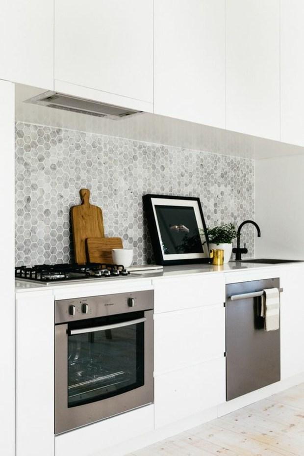 cocinas azulejos efecto marmol gris cuadros