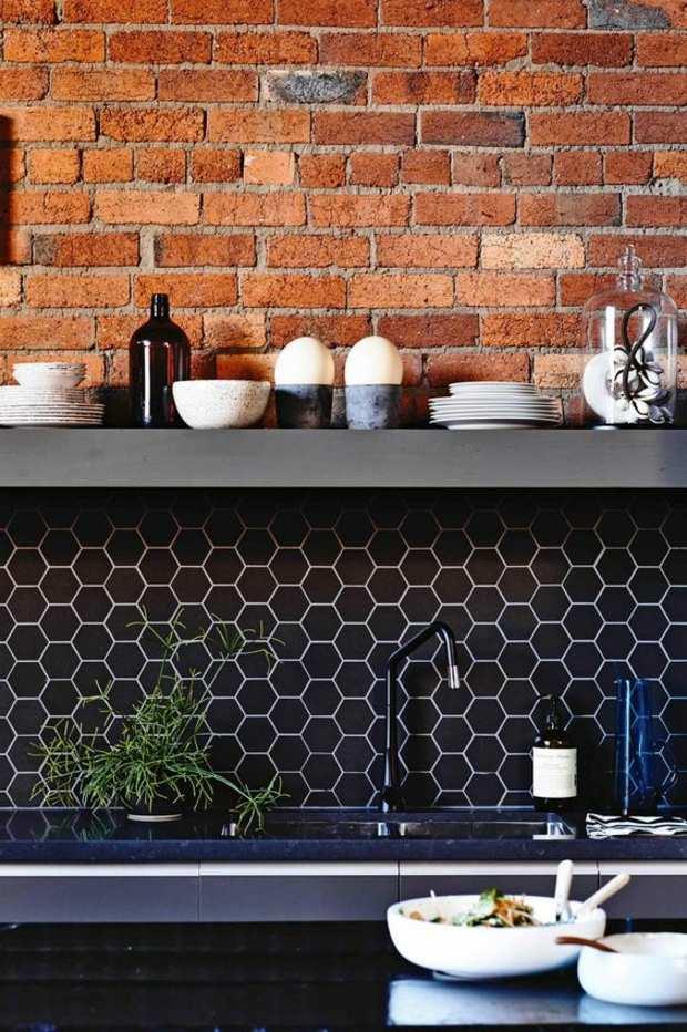 cocinas azulejos especiales materiale negros