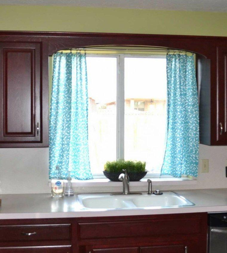 cocinas con cortinas decorar