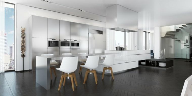 cocinas modernas con barra ando studio diseno ideas