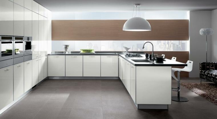 Cocinas modernas con barra - 38 diseños que se ven increibles -