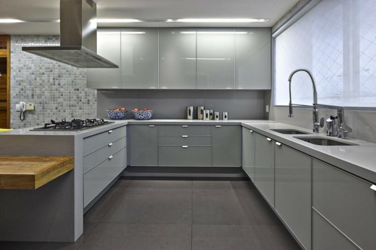 Cocinas modernas con barra 38 dise os que se ven for Cocinas integrales con barra