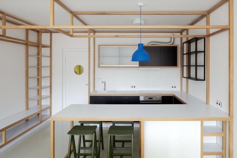 cocinas-modernas con barra diseno minimalista mjolk architects ddaann ideas