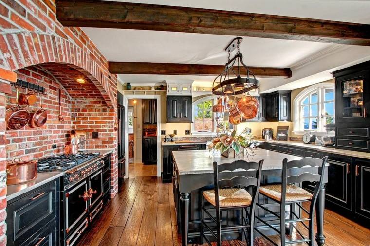 cocinas rurales decorar interior