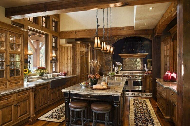 cocinas rurales interiores casas