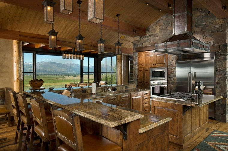 muebles para casas rurales cocinas rurales el uso de la madera y la piedra para decorar