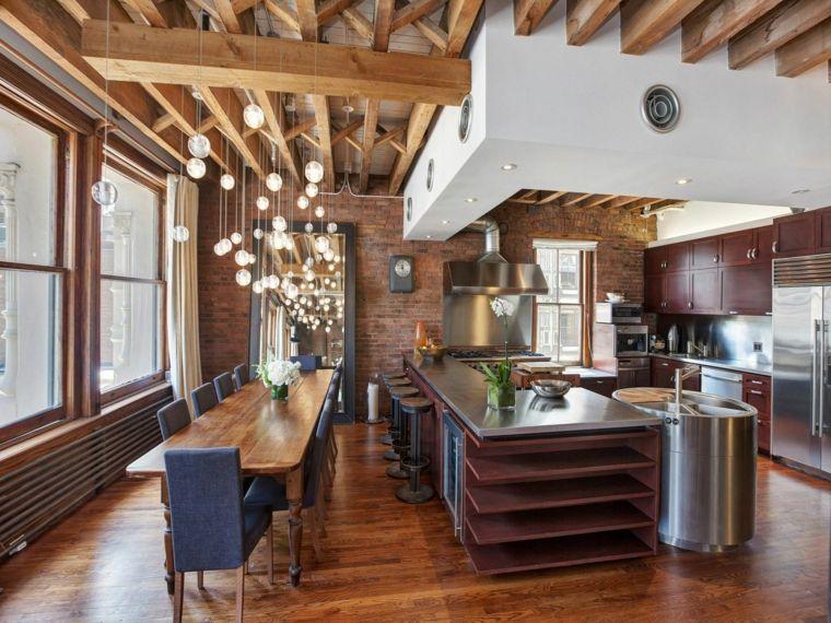 cocinas rústicas de madera