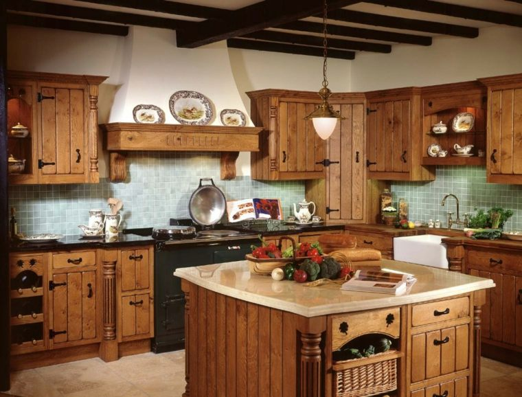 cocinas rústicas modernas interior