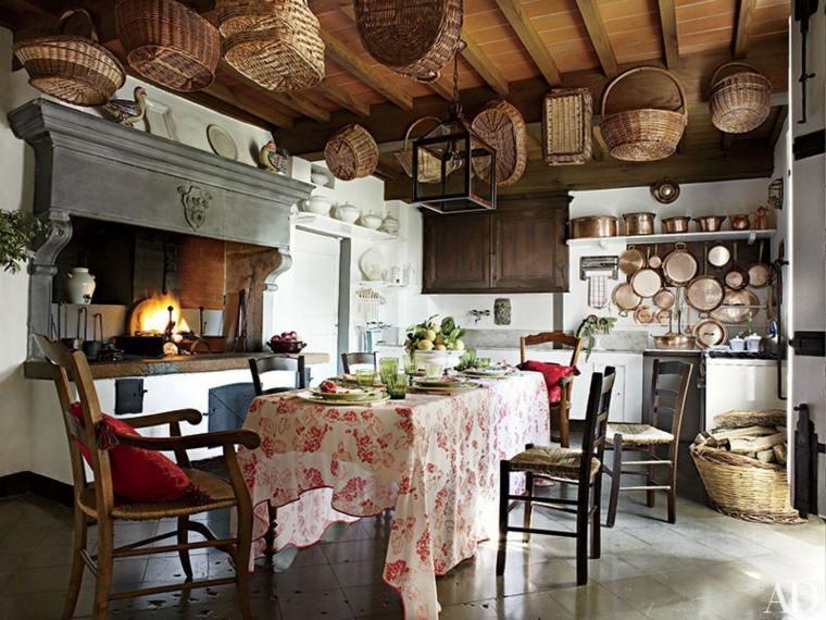 Cocinas rurales el uso de la madera y la piedra para for Cocinas rusticas modernas