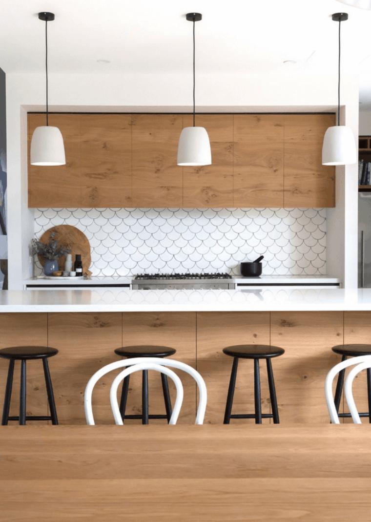 cocina moderna gabinetes madera