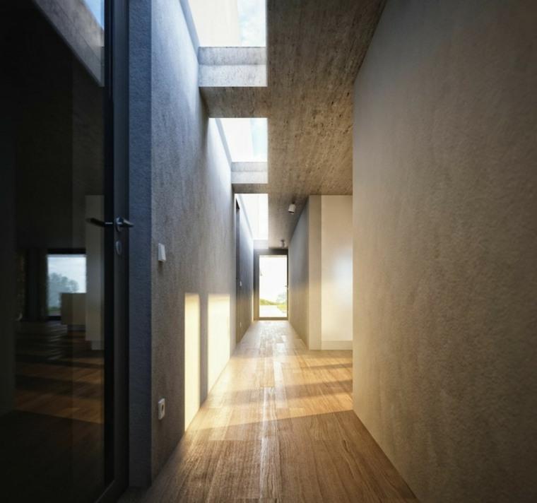 Pasillos pintados y decorados para interiores modernos - Colores para pintar un pasillo ...