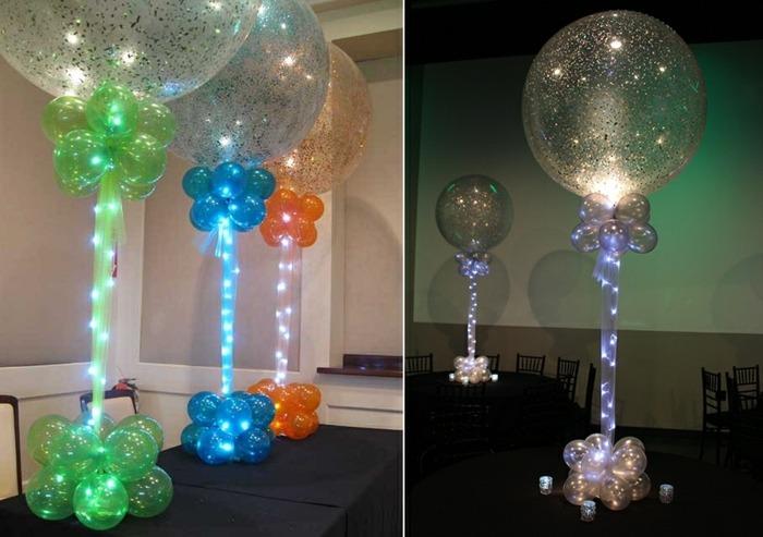 combinaciones luces interiores esferas manteles