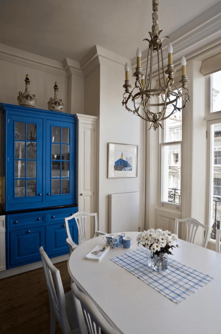 comedor original armario azul
