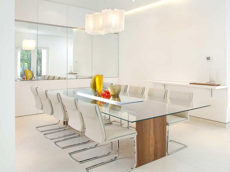 Comedores blancos con esplendor inigualable 24 ideas for Comedores minimalistas
