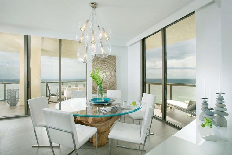 comedores blancos diseno pequenos mesa moderna idea