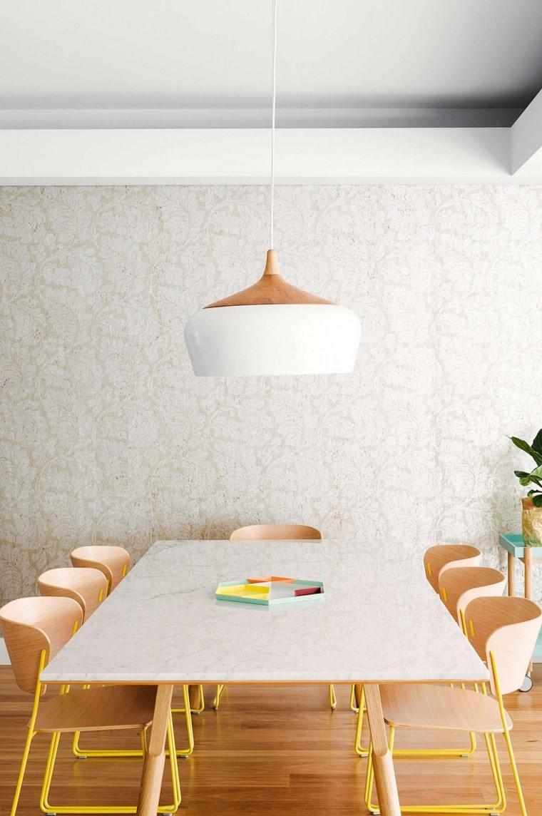 comedores blancos muebles madera opciones originales ideas