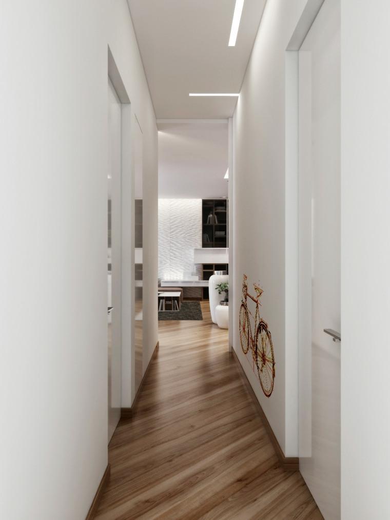 Pasillos pintados y decorados para interiores modernos - Como pintar un pasillo ...