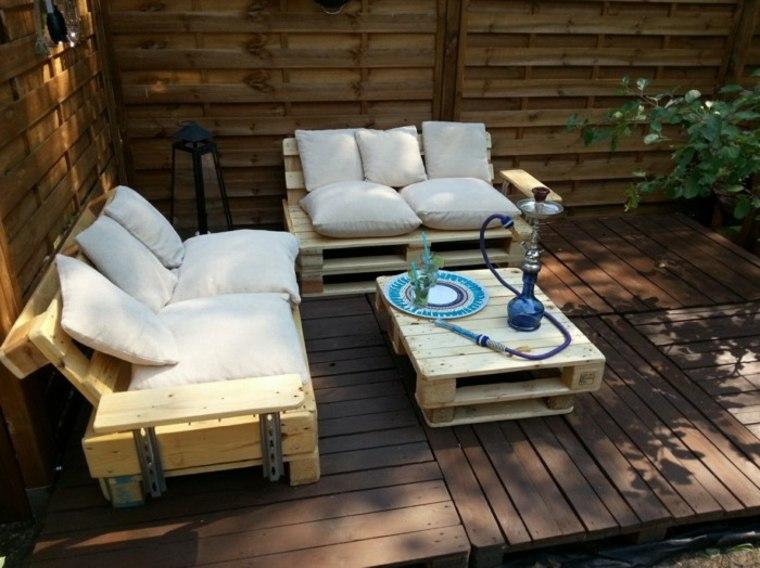 conjunto muebles terraza madera