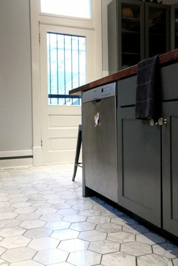 contraste suelo cabinetes negros ideas