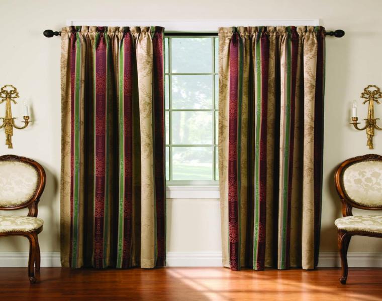 cortinas salón bandas verticales
