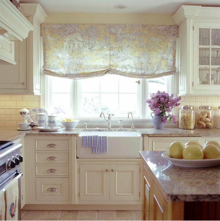 Cortinas de cocina y estores para enriquecer el dise o - Stores de cocina ...