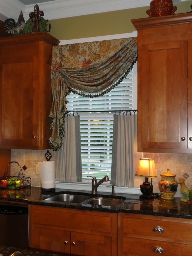 Cortinas de cocina y estores para enriquecer el dise o for Cortinas para muebles de cocina