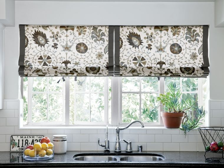 cortinas de cocina estores diseno estampado original ideas