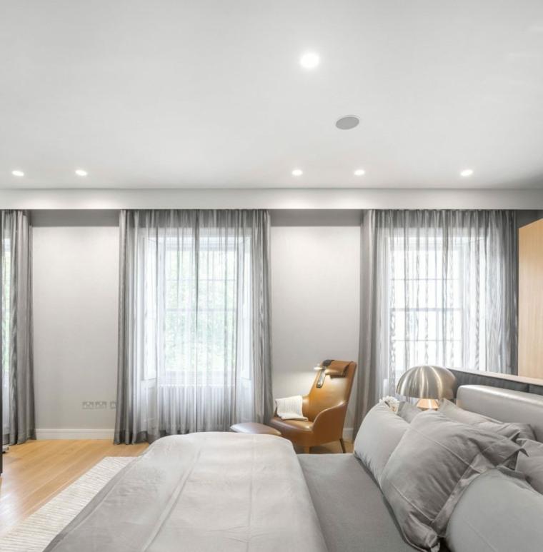 cortinas grises estilo claros listas