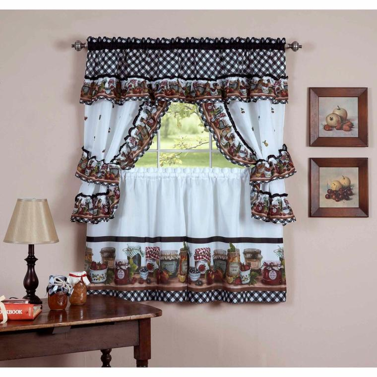 Cortinas para la cocina para decorar vuestros interiores - Modelos cortinas para cocina ...
