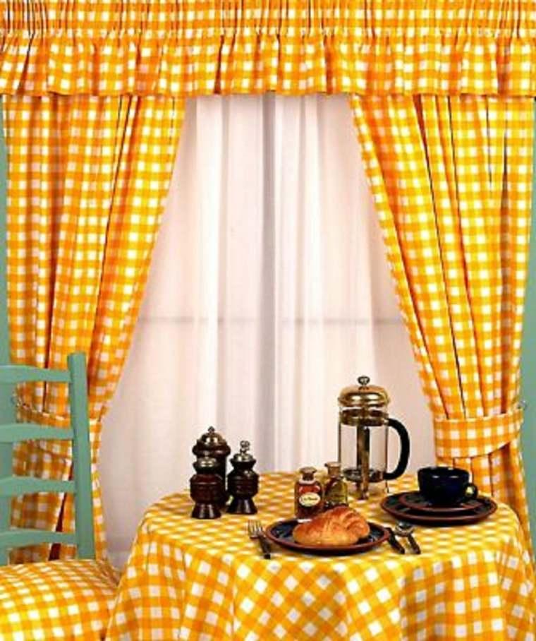 Cortinas para la cocina para decorar vuestros interiores - Que cortinas poner en la cocina ...