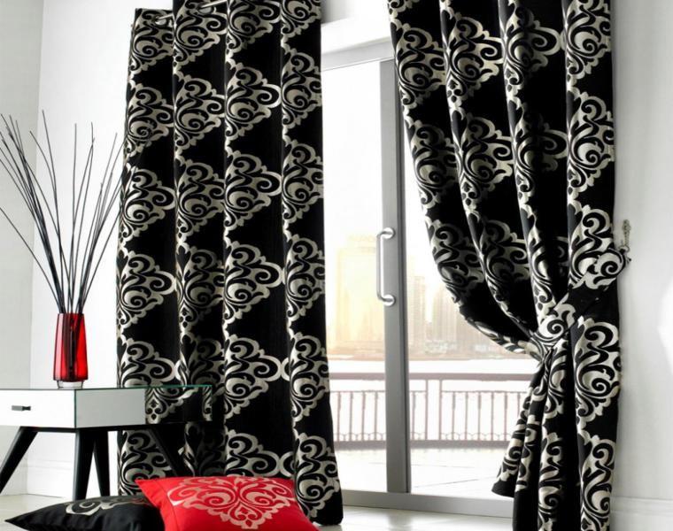 cortinas salón patron clasico