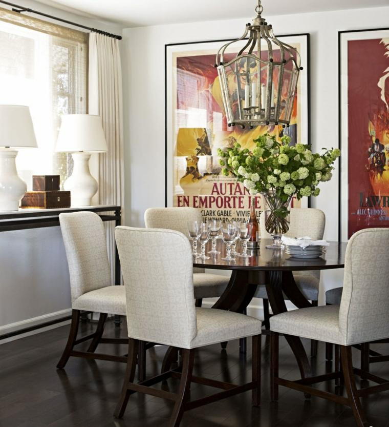 Obras de arte para decorar el comedor 24 fotos inspiradoras for Cuadros modernos para comedor diario