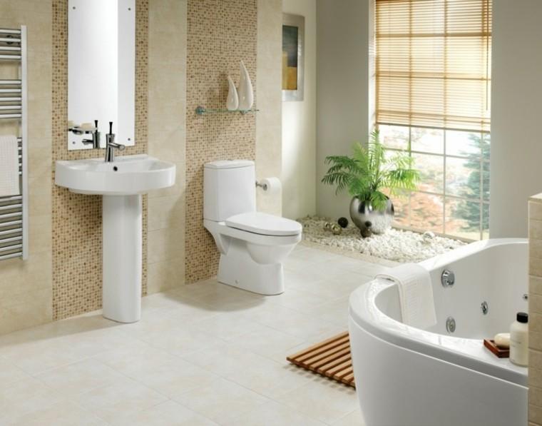 cuarto bano paredes mosaicos