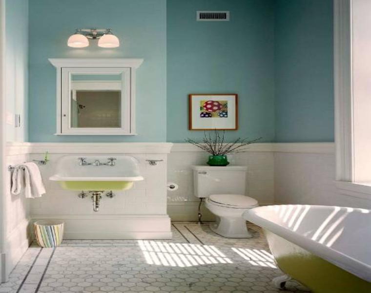 cuarto de baño estilo vintage