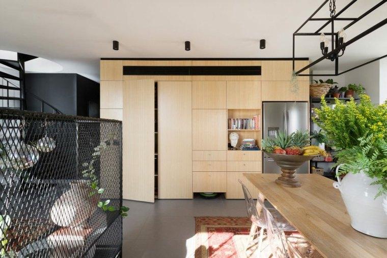 decoración apartamentos diseno moderno armarios madera ideas