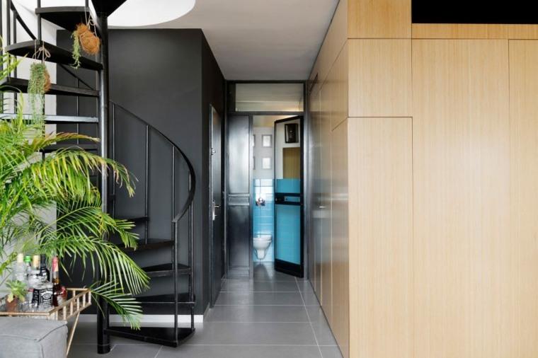 decoración apartamentos diseno moderno bano entrada ideas