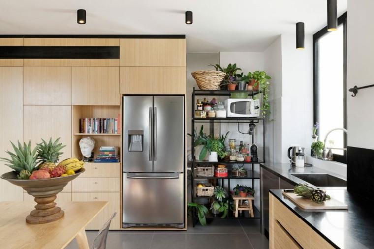 decoración apartamentos diseno moderno cocina almacenamiento ideas