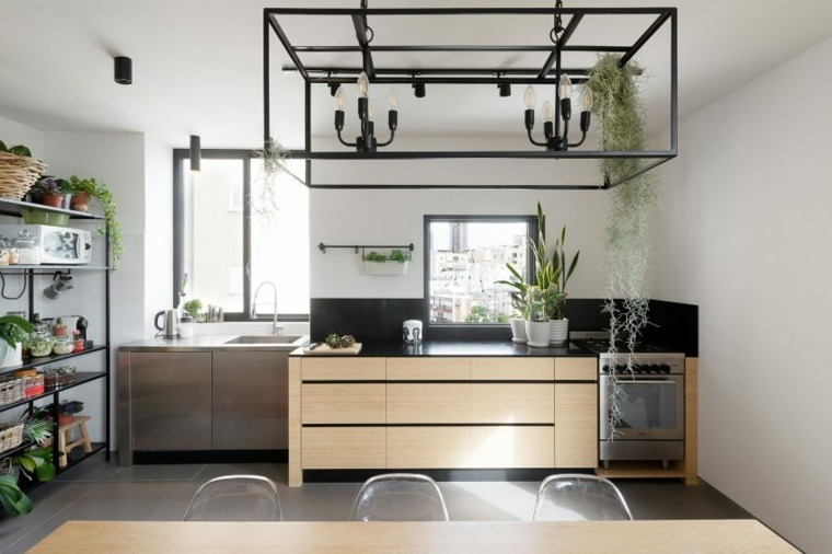 decoración apartamentos diseno moderno cocina industrial