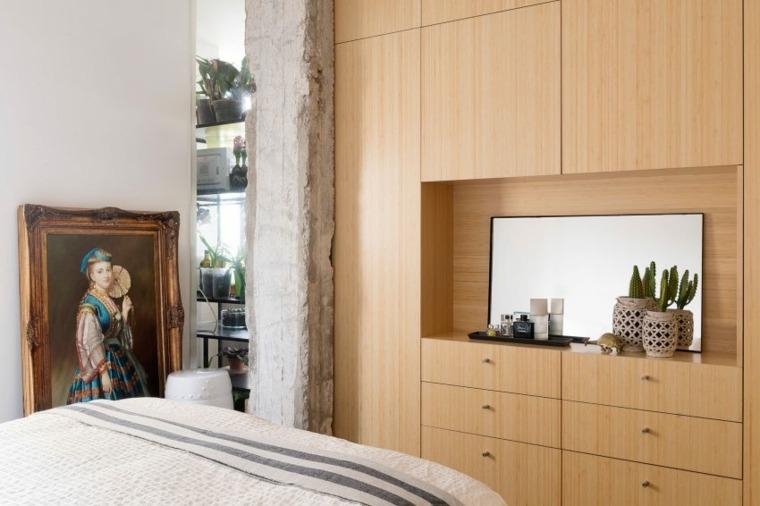 decoración apartamentos diseno moderno dormitorio pequeno ideas