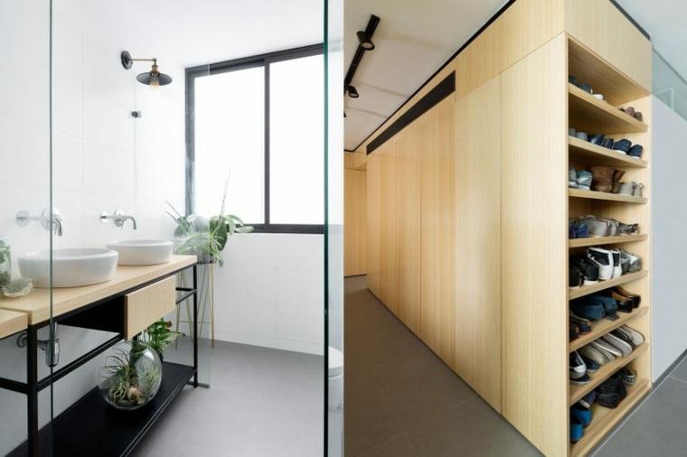 decoración apartamentos diseno moderno lavabos bano ideas