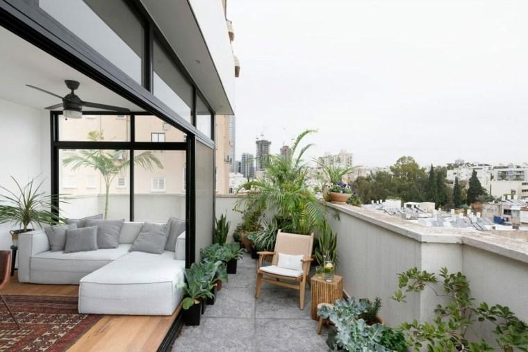 decoración apartamentos diseno moderno terraza ideas