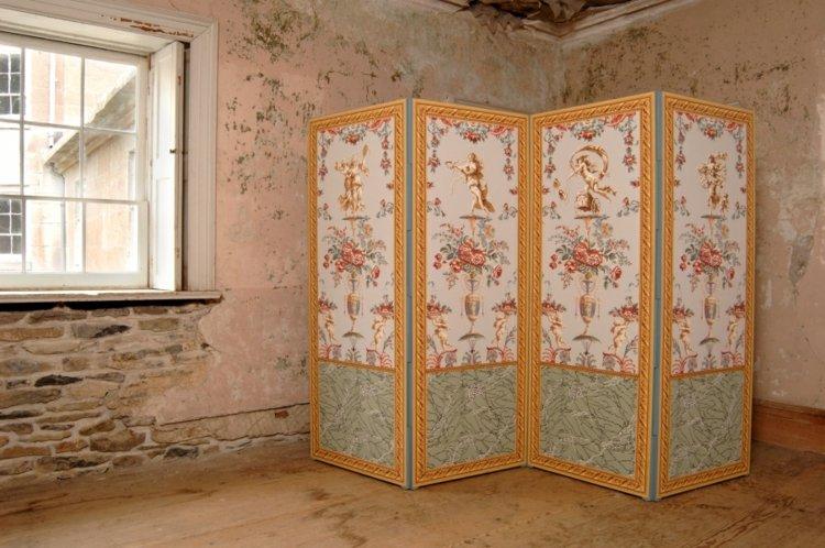 decoracion biombos inclreible dorados espejos
