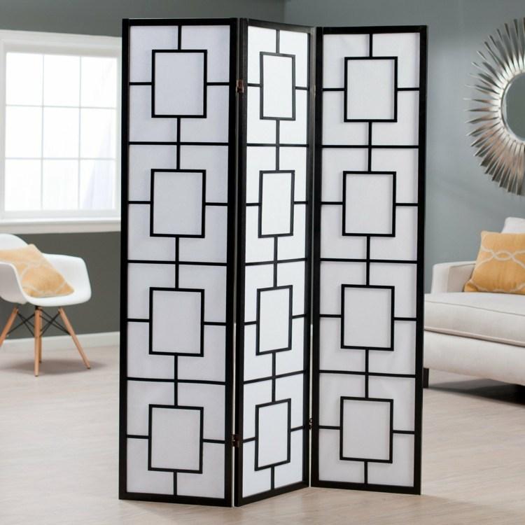 decoracion biombos metales concepto espejos