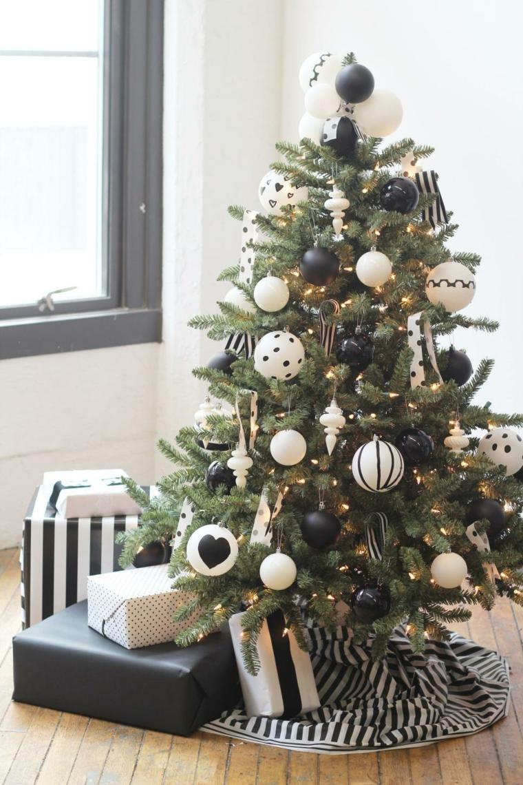 decoracion blanco negro arbol ventanas