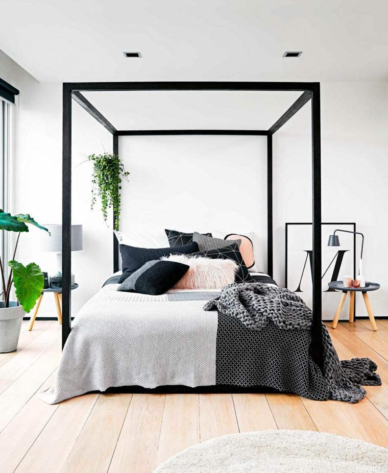 Decoración camas de matrimonio con dosel - 36 ideas originales -