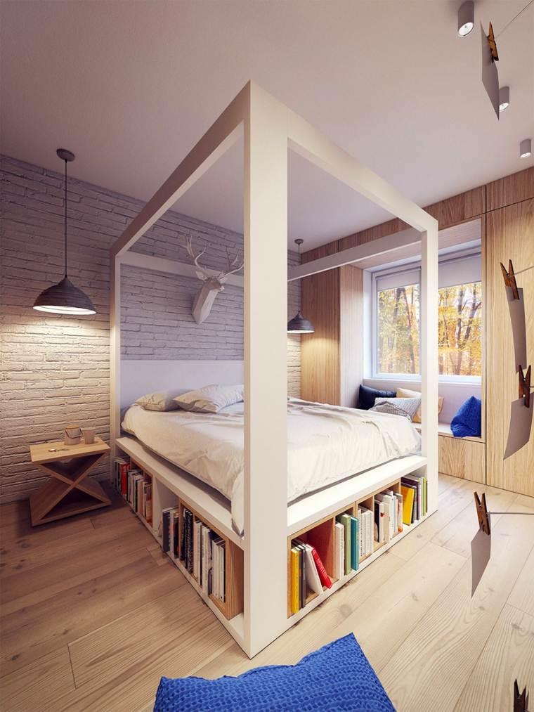 decoracion camas de matrimonio dosel plasterlina ideas
