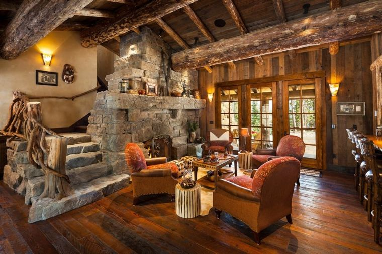 Decoraci n casas rurales para un estilo r stico del interior - Casas con estilo rustico ...