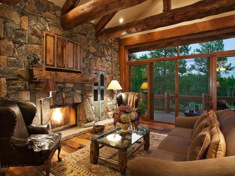 Decoraci n casas rurales para un estilo r stico del interior - Interiores rusticos de casas ...